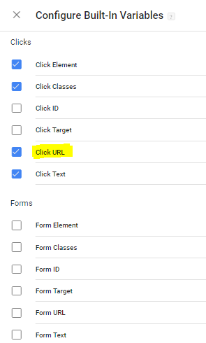 GTM Variables for Contact Form 7